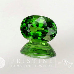 Fine Tsavorite Green Garnet Oval Shape Loose Gemstone January Birthstone for Fine Gemstone Jewelry