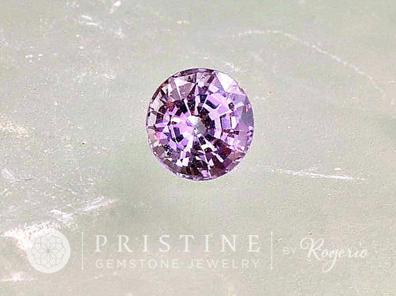 Lavender Spinel 6.8 MM  Round Shape  Fine Loose Gemstone for Engagement  Ring or Anniversary Ring