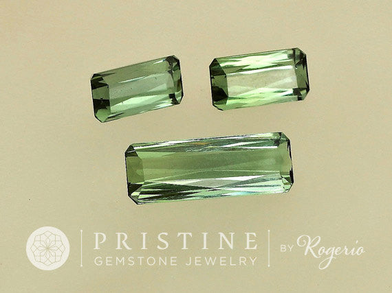 Green Tourmaline Set for Jewelry Pendant and Earrings Over 8 Carats October Birthstone Loose Gemstone