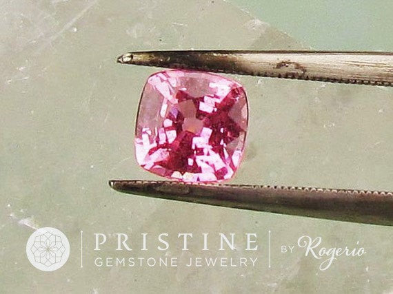 Natural Pink Sapphire Square Cushion Shape Fine Gemstone for Engagement Ring September Birthstone