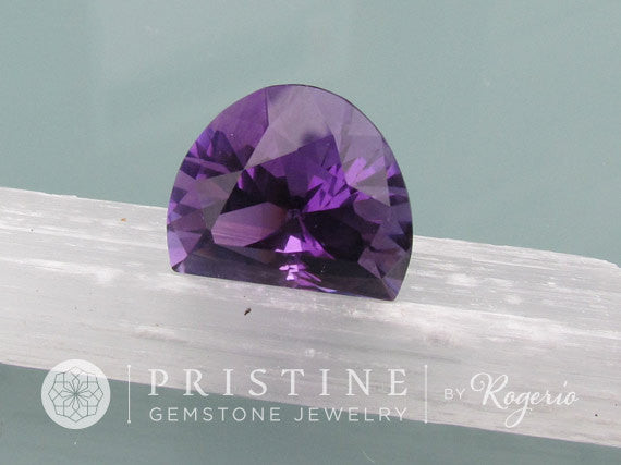 Amethyst February Birthstone for pendant precision cut gemstone