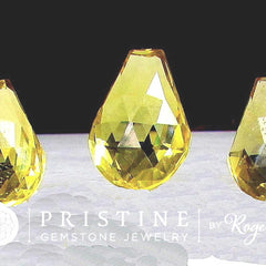 Citrine Briolette Set Fancy Cut Gemstones Over 50 Carats November Birthstone for Pendant and Earrings