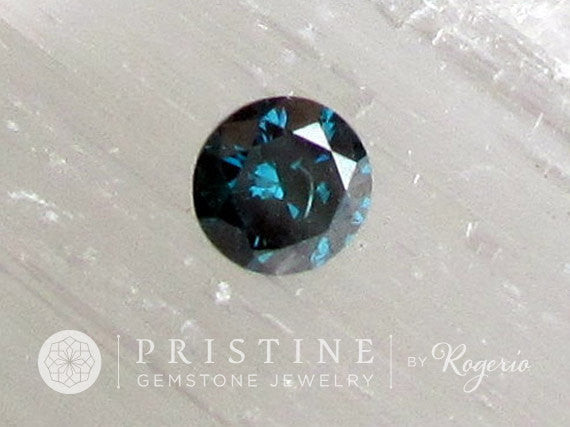Blue Diamond Brilliant Cut for Gemstone Engagement Ring, Pendant or Anniversary Ring April Birthstone Gemstone for Fine Gold Jewelry
