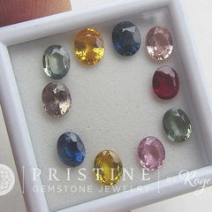 Sapphire Lot Sale for Jewelry September Birthstone Blue Green Yellow Pink Apricot Champagne Ruby