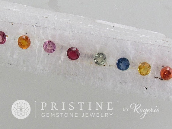 Sapphire Lot 4 mm Round Shape  Loose Gemstones  Pink, Blue, Yellow Sapphire September Birthstone for Gemstone Jewelry