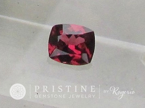 Reddish Raspberry Color Spinel  Cushion Shape Loose Gemstone for 14K Gold Ring or Fine Jewelry