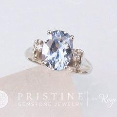Vintage Style Three Stone Ring Semi Mount Custom Made to Order in 14k White Gold Yellow Gold or Rose Gold