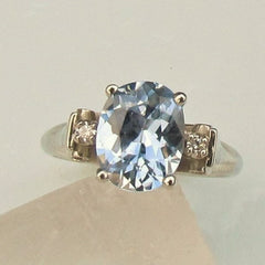 Vintage Style Three Stone Ring Semi Mount Custom Made to Order
