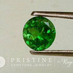 Tsavorite Green Garnet Round Shape January Birthstone Fine Quality Gemstone for Engagement Ring or Anniversary Ring