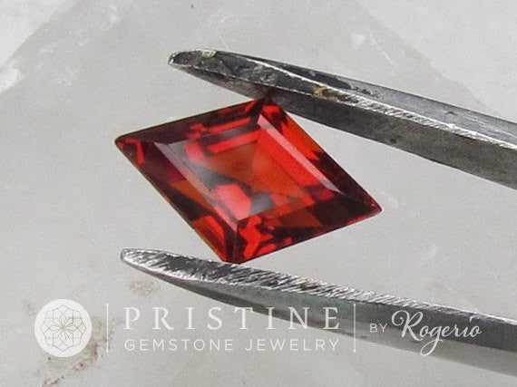 Spessartite Garnet Fancy Cut over 4cts Large Loose Gemstone for 14K Gold Jewelry Ring or Pendant January Birthstone
