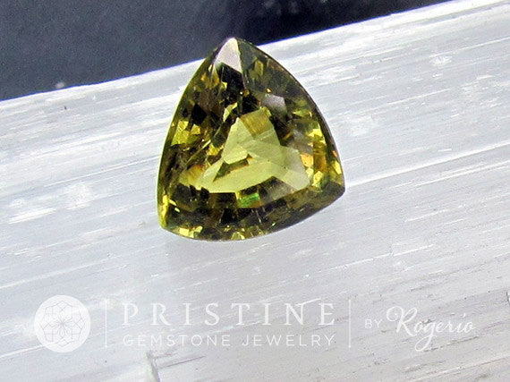 Grossular Garnet Triangle Shape for Engagement Ring or Fine Jewelry January Birthstone Loose Gemstone