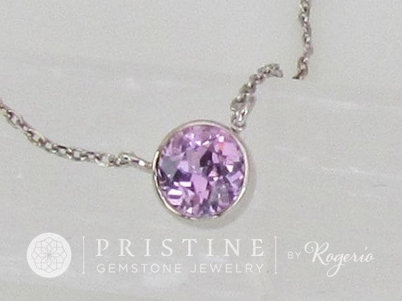 Purple Sapphire Layering Necklace Keepsake Gift for Her