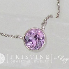 purple sapphire layering necklace