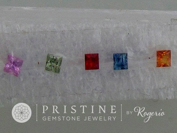 Princess Cut Sapphire Lot  3.5 MM Loose Gemstone Lot September Birthstone for Fine Jewelry