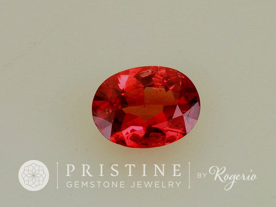 Red Spinel Oval Precision Cut Fine Loose Gemstone for Engagement Ring Anniversary Ring