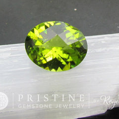 checkerboard oval peridot