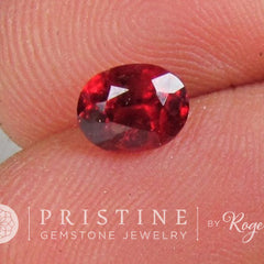 Red Spinel Oval Fine Loose Gemstone for Engagement Ring Anniversary Ring Morganite Alternative