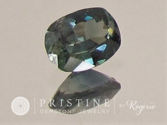 Blue Green Sapphire Cushion Shape Loose Faceted Gemstone for Engagement Ring September Birthstone