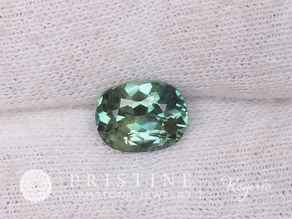 SOLD Blue Green Sapphire Oval Shape Over 2 Carats Fine Gemstone  September Birthstone Gemstone Jewelry