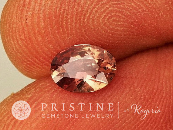 Chocolate Peach Sapphire Oval Shape Fine Gemstone for Engagement Ring September Birthstone