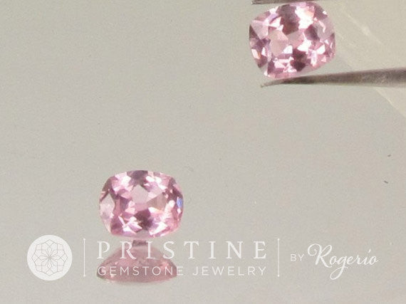 Pink Spinel  Cushion Shape Matching Pair for Earrings or Fine Jewelry Loose Gemstones