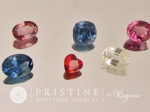 Sapphire Lot 6.70 Carats Various Shape Loose Gemstones  Pink, Blue, Yellow Sapphire September Birthstone for Gemstone Jewelry