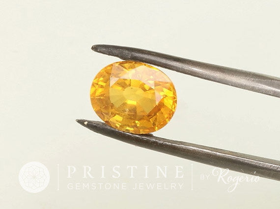 Deposit on Yellow Sapphire Double Halo Split Shank 14k Yellow Gold Engagement