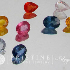 Sapphire Lot Sale 8.60Cts tw Various Shape Loose Gemstones  Pink, Orange, Yellow Sapphire September Birthstone for Gemstone Jewelry
