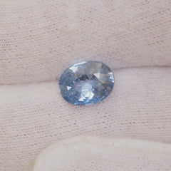 ice blue natural sapphire