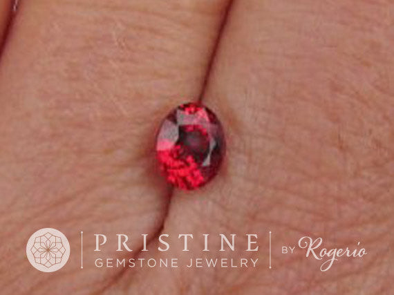 Red Ruby Oval Shape Beryllium Treatment Ruby for Engagement Ring July Birthstone