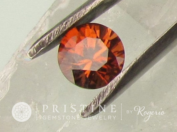 Orange Zircon Round Shape Fine Gemstone Over 3.50 Carats for Engagement or Anniversary Ring