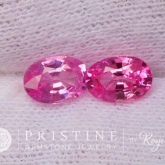 Hot Pink Sapphires for Earrings September Birthstone