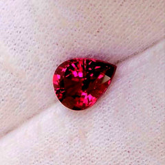 Cherry Sapphire Pear Shape Gemstone for Fine Jewlery or Engagement Ring September Birthstone Gemstone