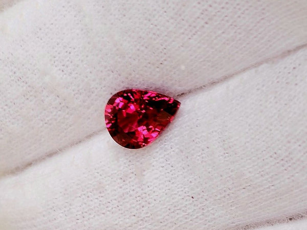 Cherry Red Sapphire 1.90ct Pear Shape Loose Gemstone