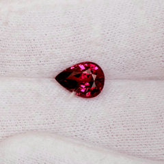 pear shaped red sapphire