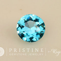 Blue Topaz 13.9 MM Round Shape Loose Faceted Gemstone for Fine Jewelry Pendant December Birthstone