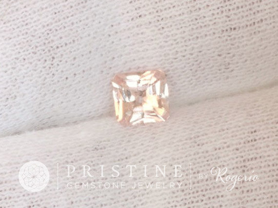Radiant Cut Peach Sapphire Wholesale September Gemstone