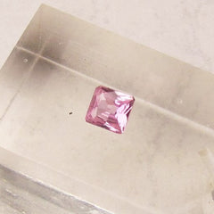 Pink Sapphire Square Shape Fine Gemstone for Engagement Ring September Birthstone