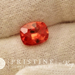 Orange Sapphire Cushion Shape Fine Gemstone for Engagement Ring September Birthstone