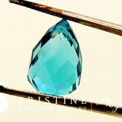 Blue Topaz Briolette Over 15 Carats Shape Loose Faceted Gemstone for Fine Jewelry Pendant December Birthstone