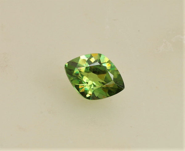 Demantoid Garnet 9.5 x 7mm Fancy Cut