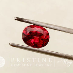 Red Ruby Oval for Engagement Ring or Wedding Anniversary Ring July Birthstone Faceted Loose Gemstone