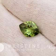 fancy cut demantoid garnet