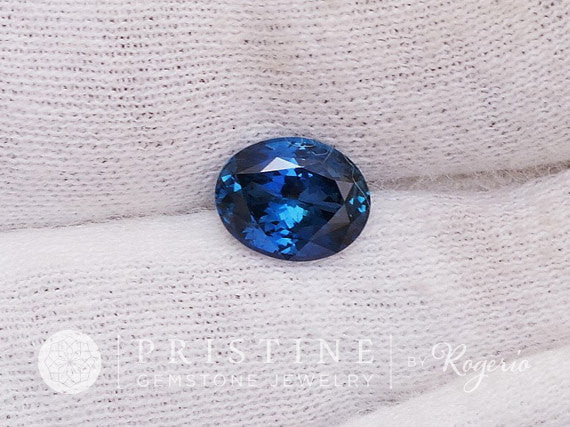 Blue Sapphire 9x7 MM Oval Shape for Custom Jewelry