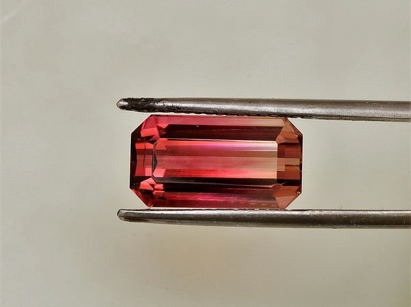 Pink Tourmaline 13.7 x 7.4mm Emerald Cut