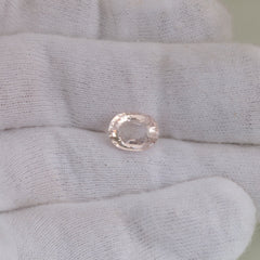 Morganite Light Pink Color 2.76 Carats for Pendant Loose Gemstone for Custom Gemstone Jewelry