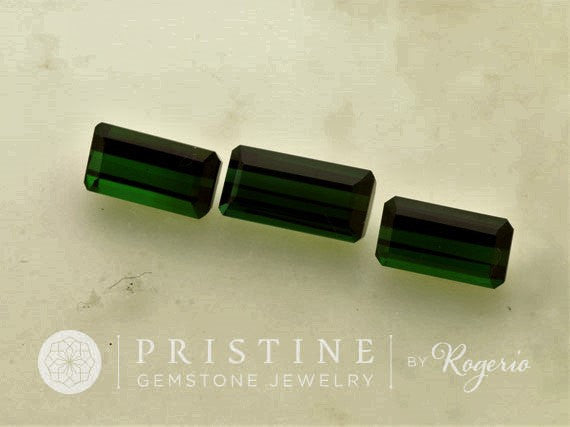 Green Tourmaline Set 16.80 cts for Jewelry Pendant and Earrings October Birthstone Loose Gemstones