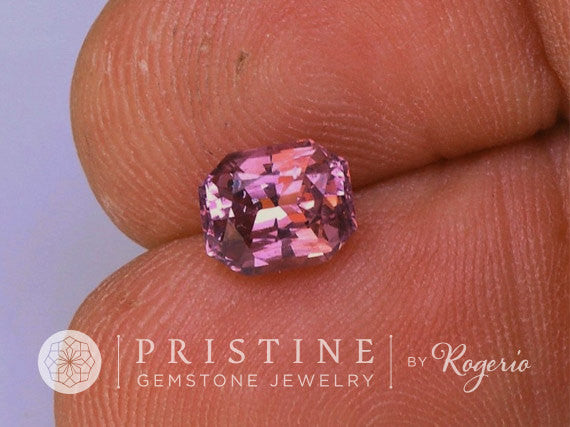 Raspberry Color Natural Spinel Radiant Emerald Cut for Fine Custom Jewelry Sapphire Alternative
