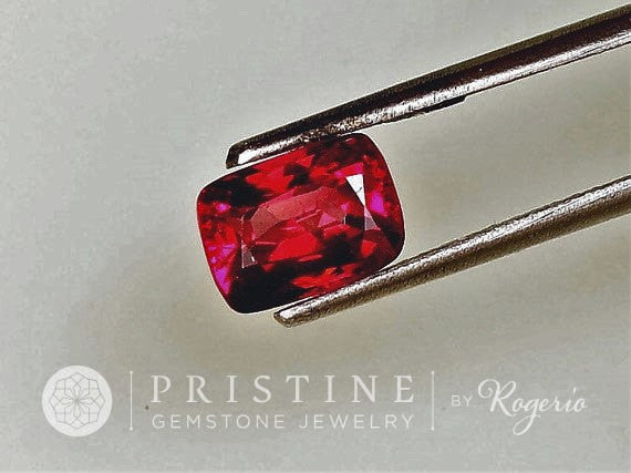 Red Spinel Cushion Shape Fine Loose Gemstone for Engagement Ring 14K Gold Ring or Fine Jewelry