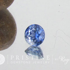 Round Ceylon Natural Blue Sapphire Natural Loose Gemstone for Engagement Ring September Birthstone